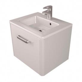 Тумба для ванной комнаты Fancy Marble Fiji 500 с раковиной Annabelle 50 Белая