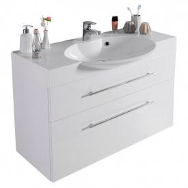 Тумба для ванной комнаты Fancy Marble Sumatra 2 ШН-309 с раковиной Carme 980C Белая