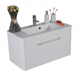 Тумба для ванной комнаты Fancy Marble Fiji 80 с раковиной Annabelle 80 Белая