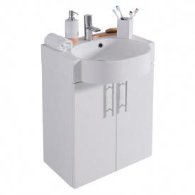 Тумба для ванной комнаты Fancy Marble Ibiza 50 ШН-512 с раковиной Comfort 512 Белая