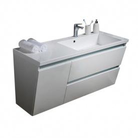 Тумба для ванной комнаты Fancy Marble Cyprus 1250 с раковиной Peggy 1250 Белая