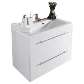 Тумба для ванной комнаты Fancy Marble Goa 80 ШН-72 с раковиной Dallas 80 Белая