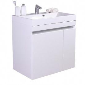 Тумба для ванной комнаты Fancy Marble Sheldon 700 с раковиной Signe 700 Белая
