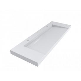 Умывальник подвесной из литого мрамора Miraggio Olmos 1500 Белый глянцевый 0000226