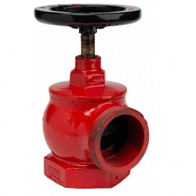Кран пожарный Ду-50 чугунный угловой 90°, вн/нар (15кч11р)