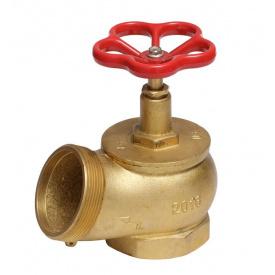 Кран пожарный Ду-65 латунный угловой 125°, вн/нар