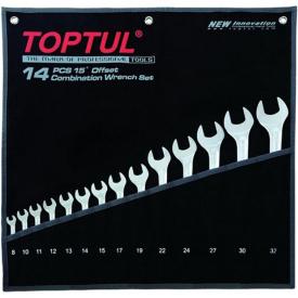 Набор ключей комбинированных TOPTUL GPAX1401
