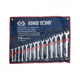 Набор ключей дюймовых King Tony 1214SR (14 предметов)