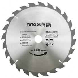 Диск пильный YATO по дереву 300х30x3.2x2.2 мм, 24 зубца (YT-6075)