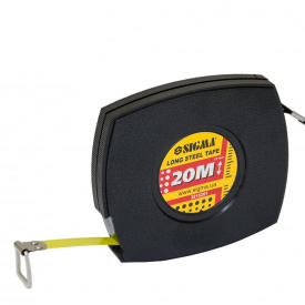 Рулетка стальная лента Sigma 20м*10мм (черная) (3816201)