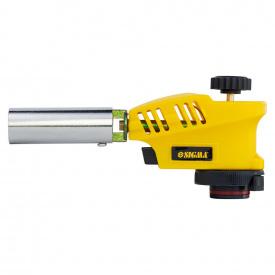 Горелка газовая с регулировкой пламени сверху и пьезоподжигом Ø20мм 153мм SIGMA (2901431)