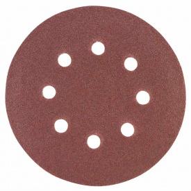 Шлифовальный круг 8 отверстий диаметр125мм P120(10шт) Sigma (9122671)