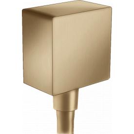 Fixfit Square Шланговое подсоединение с клапаном обратного тока шлиф бронза HANSGROHE 26455140