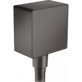 FixFit Шланговое подсоединение Square с клапаном обратного тока шлиф черный хром HANSGROHE 26455340