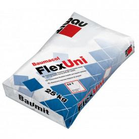 Клеевая смесь Baumit FlexUni, для тонкослойного приклеивания керамических плиток (25кг)