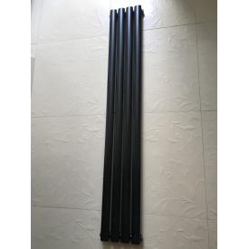 Вертикальный дизайнерский радиатор отопления ТМ ARTTIDESIGN Rimini || 4/1800 чёрный матовый