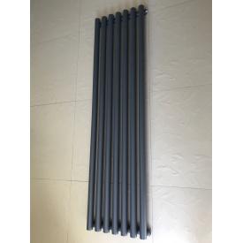 Вертикальный дизайнерский радиатор отопления TM ARTTIDESIGN Matera 7/1500 серый матовый