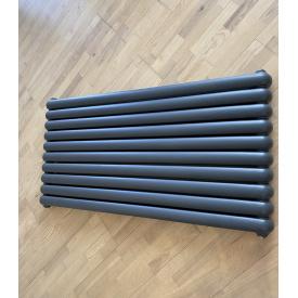 Горизонтальный дизайнерский радиатор отопления Sora 10/1600 серый матовый