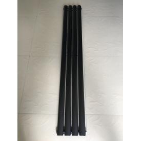 Вертикальный дизайнерский радиатор отопления ТМ ARTTIDESIGN Rimini 4/1500 чёрный матовый