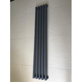 Вертикальный дизайнерский радиатор отопления TM ARTTIDESIGN Matera 5/1800 серый матовый