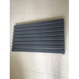 Горизонтальный дизайнерский радиатор отопления Livorno G 8/1200 серый матовый