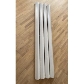 Вертикальный дизайнерский радиатор отопления TM ARTTIDESIGN Siena 4/1800 белый матовый