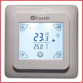 Терморегулятор программируемый сенсорный Castle V8 белый