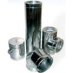 Труба для дымохода из нержавеющей стали 430 130x0,6 мм