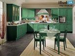 Мебель для кухни зеленого цвета