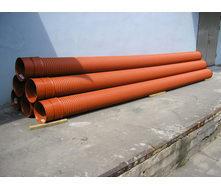 Труба гофрированная безнапорная K2-KAN 300 мм 6 м