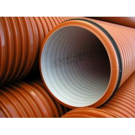 Труба гофрированная K2-KAN для наружной канализации 1000 мм 6 м