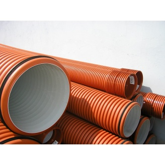 Труба гофрированная K2-KAN для наружной канализации 600 мм 6 м