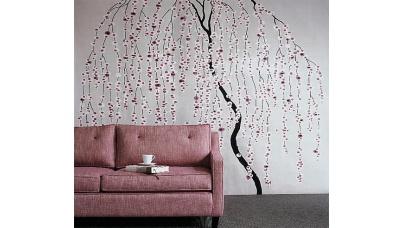 Декорування стін трафаретами