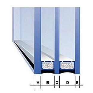 Двухкамерный стеклопакет 4*6*4*6*4 мм