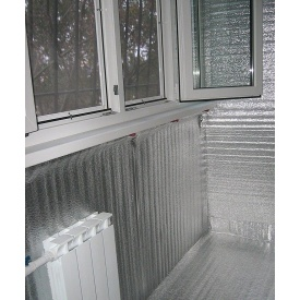 Утеплення балкона за допомогою плівки Гідробар'єр