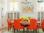 Столовая в оранжевом цвете