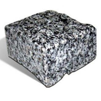 Бруківка гранітна колота Покостівка 100*100*50 мм світло-сіра