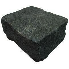 Бруківка гранітна колота 100*100*100 мм чорна габро