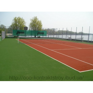 Покрытие для теннисных открытых кортов из искусственной травы