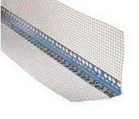 Угол перфорированный алюминиевый со стеклосеткой 3 м