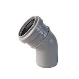 Коліно каналізаційне 45 градусів 50 мм