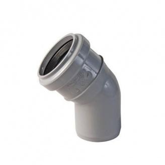 Колено канализационное 45 градусов 50 мм