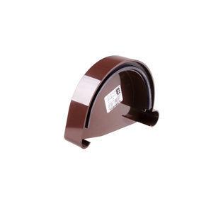 Заглушка ринви ліва Profil L 90 мм коричнева