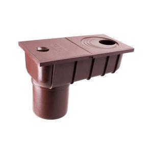 Колодязь зливовий з прямим зливом Profil 75/100 мм коричневий