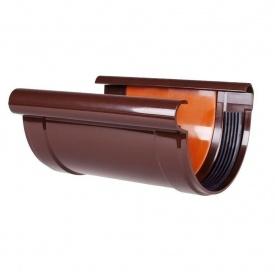 З'єднувач ринви Profil 90 мм коричневий