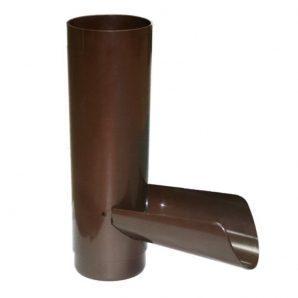 Отвод для сбора воды Profil 90 мм коричневый