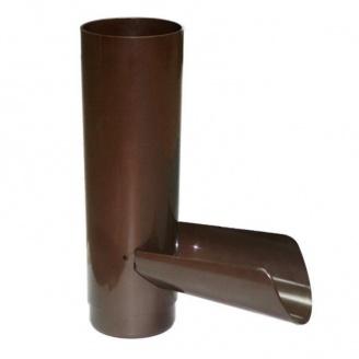 Отвод для сбора воды Profil 130 мм коричневый