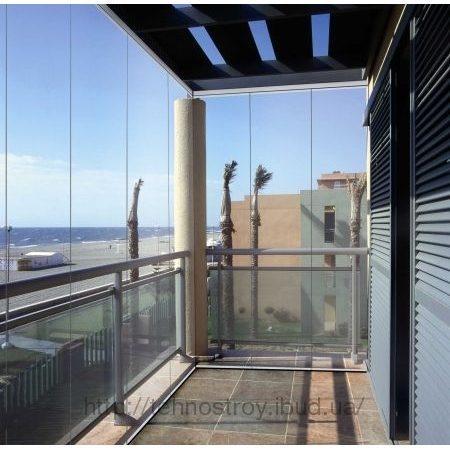 """Балконный блок из стекла 3000х2000 мм цена """"техно строй"""" ibu."""