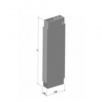 Вентиляційний блок ВБВ 30-2 ТМ «Бетон від Ковальської» 910х300х2980 мм