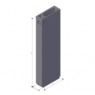 Вентиляційний блок ВБ 4-33-1 ТМ «Бетон від Ковальської» 910х400х3280 мм